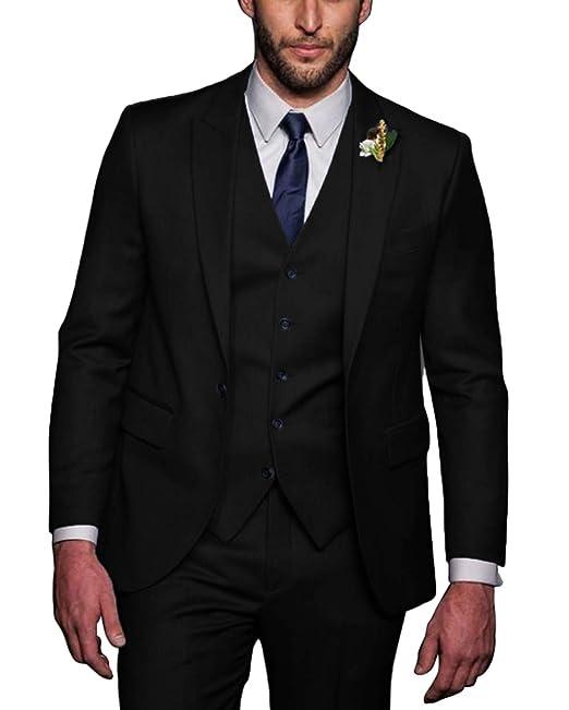 Amazon.com: Faiokaver - Trajes de esmoquin para hombre para ...