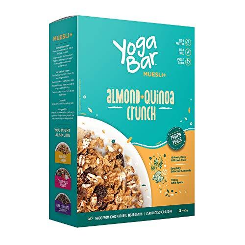 Yogabar Wholegrain Breakfast Muesli – Almond + Quinoa Crunch, 400g