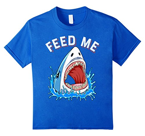 Environmentalist Halloween Costume (Kids Feed Me with Shark Head T-shirt Lover Jawsome Men Women Kids 8 Royal Blue)
