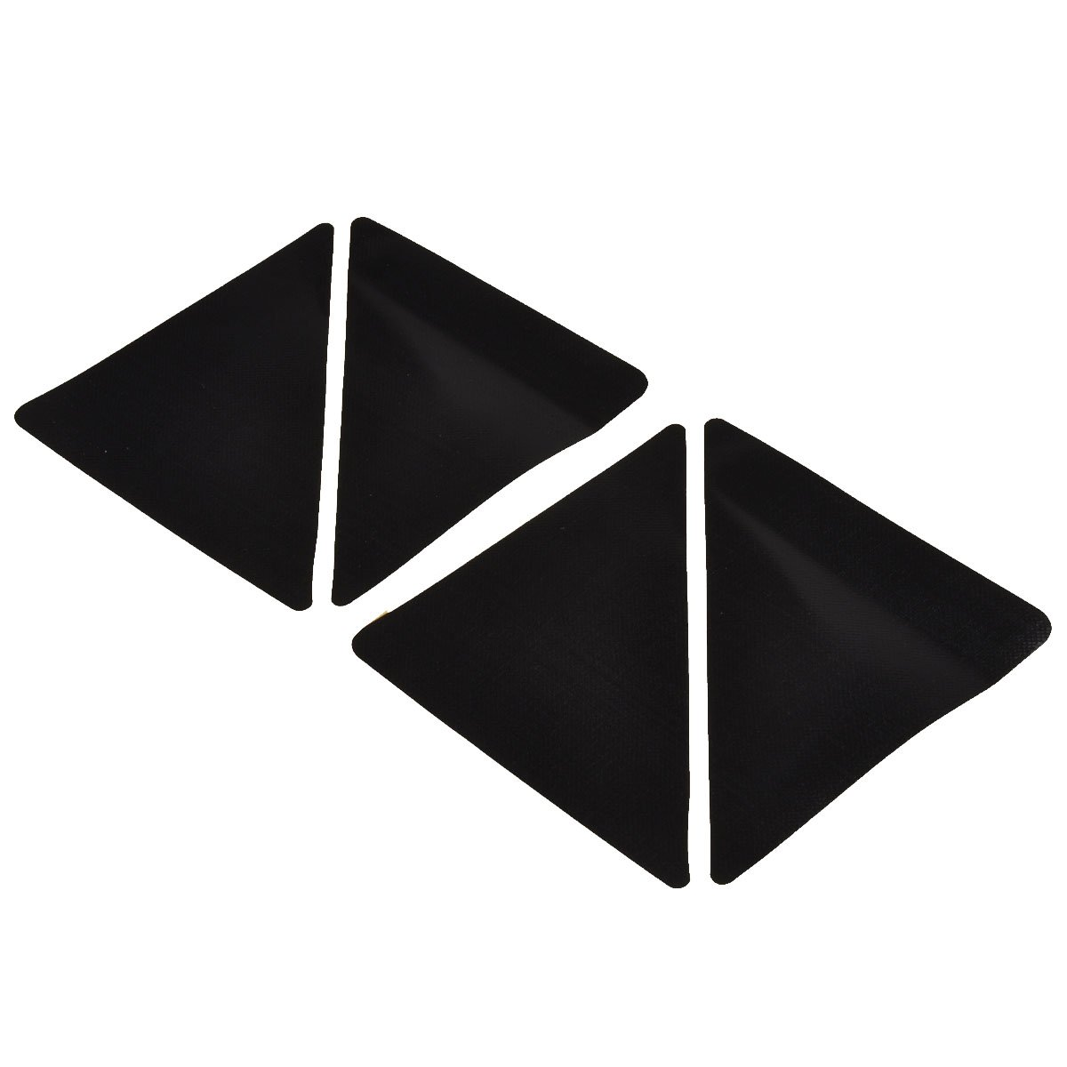 Foxnovo 15*7.5cm Reusable Triangle-shaped Anti-skid Rubber Floor Carpet Mat Rug Gripper Stopper Tape Sticker - 4 pcs/set (Black)