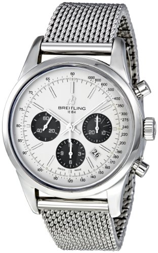Breitling Men's AB015212/G724SS Transocean 01 Silver Dial Watch