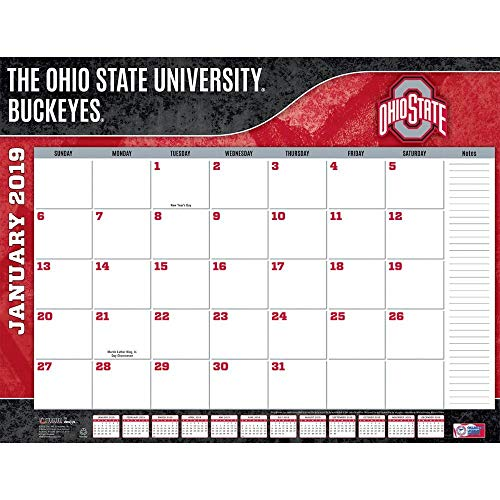 Turner 1 Sport Ohio State Buckeyes 2019 22X17 Desk Calendar Office Desk Pad Calendar (19998061494)