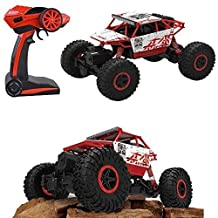 RC Rock Off-Road Vehicle 2.4Ghz 4WD Fast Speed Racing Cars Electric Rock Crawler Electric Buggy Hobby Car Fast Race Crawler Truck (Red)