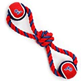 Pet Goods Manufacturing Mississippi Ole Miss Rebels Double Ball with Dog Toy Rope For Sale