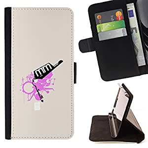 KingStore / Leather Etui en cuir / Sony Xperia Z3 D6603 / Rosa abstracto