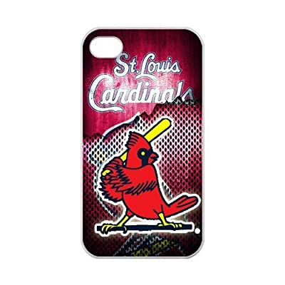 Zyhome iPhone 4,4S Funny Logo St Louis Cardinals Birds Playing Baseball Case for iPhone 4,4S 100% TPU (Laser Technology)