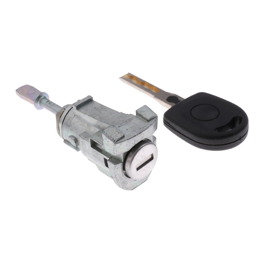 MagiDeal Car Security Ignition Door Cylinder Lock Key Kit For VW Volkswagen Bora