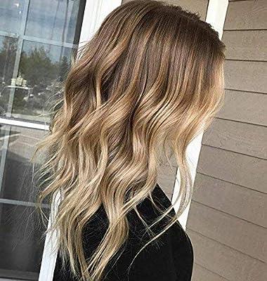 Balayage hair blond glatt