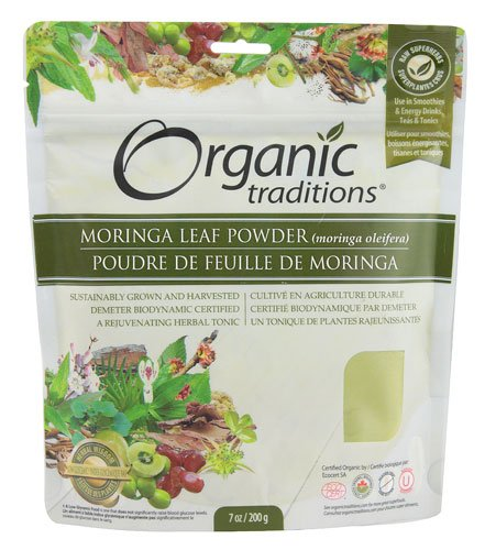Organic Traditions Moringa Leaf Powder -- 7 oz