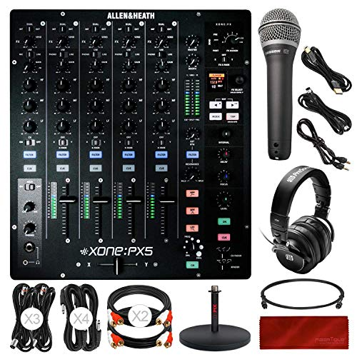 (Allen & Heath Xone: PX5 4+1 Channel Analogue DJ Mixer with Effects + Headphones + Cables + Deluxe Accessory Bundle )