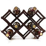 Wood Wine Rack Storage Wine Holder Foldable Free