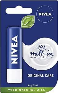 NIVEA Lip Balm, Original Care, 4.8g
