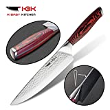 KBK Chef Knife Kitchen Knives 8 Inch Professional Chef's Knives 440C Stainless Steel With 58 To 60 HRC Super Sharp Best For Home Kitchen Cutting Chopping Slicing Mincing Vegetable Meats Steak Bread