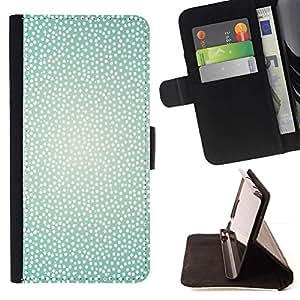 For LG G3 Case , Sparkle White Glitter Spots el modelo de puntos- la tarjeta de Crédito Slots PU Funda de cuero Monedero caso cubierta de piel