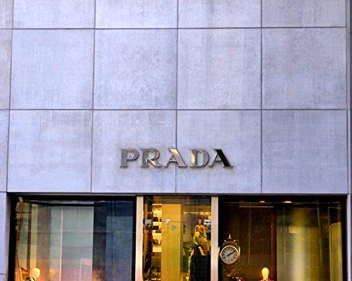 Prada Wall Art, Prada Wall Decor, Prada Store Sign Art Print, Fashion Wall Art, Shop Window Wall Decor, Dorm Wall Art, Girls Room Art, Bathroom - Prada New York Store