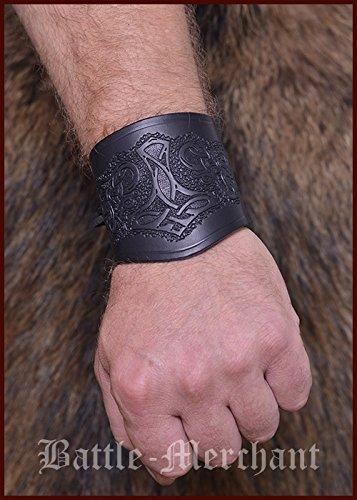 2 opinioni per Armguards in pelle, con martello di Thor, corta- Bracciale Armstulpe vichingo