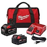 Milwaukee M18 18-Volt Lithium-Ion Starter Kit with One 9.0 Ah Battery and One 5.0 Ah Battery and Charger