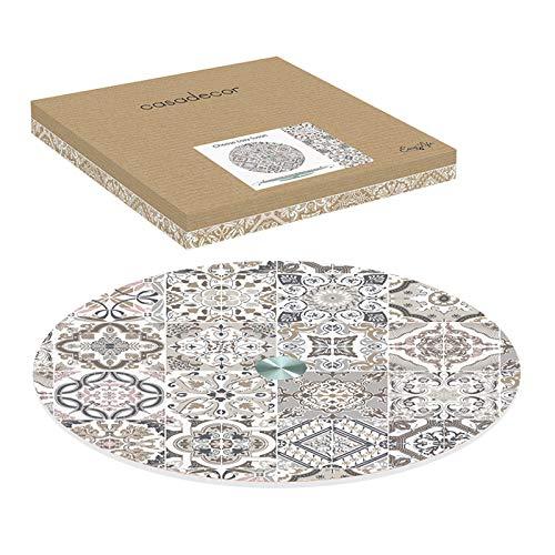 Easy Life 441CADG color gris 32 cm, cristal casa Caja con plato giratorio