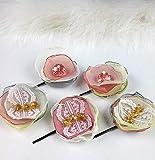Blush pink lace hair flower Wedding hair flowers, Wedding headpiece set 5