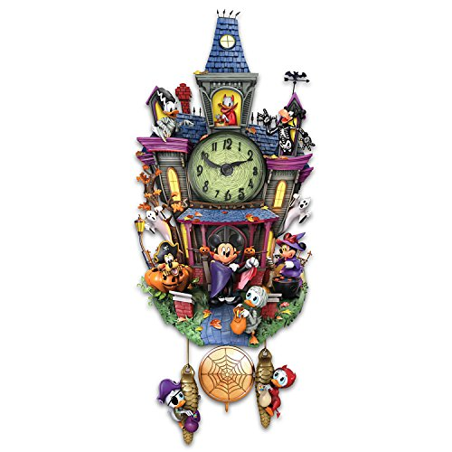 Disney Halloween Themed Cuckoo Clock with 9 Disney Characters
