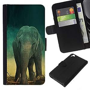 """Be-Star la tarjeta de Cr¨¦dito Slots PU Funda de cuero Monedero caso cubierta de piel Para HTC Desire 820 ( Elefante trullo Tronco retro lindo"""" )"""