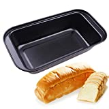 VALINK Carbon Steel Baking Cake Pan, Bread Mold Maker, Toast French Bread Bakeware Pan, Big Square Loaf Baking Tray, Cupcake Cake Tin - 25x13x6.4cm