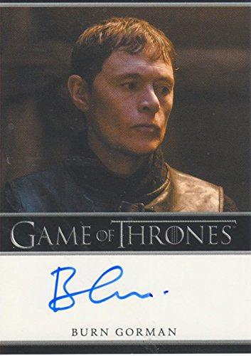 2015 Game of Thrones Season 4 Trading Card Autograph Burn Gorman as Karl Tanner