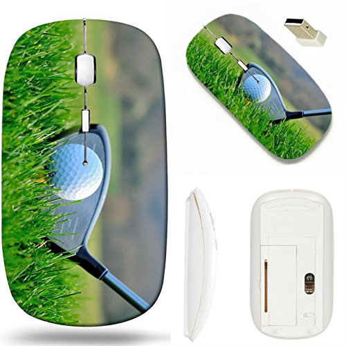 MSD Wireless Mouse White Base Travel 2.4G Wireless Mice with USB Receiver, Noiseless and Silent Click with 1000 DPI for Notebook, pc, Laptop, Computer, mac Book Design 23714878 Golf Putter and Ball ()