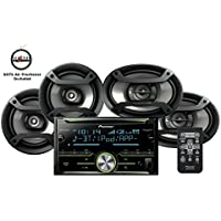 Pioneer FH-X730BS CD Receiver w/ Built in Bluetooth and two sets of speakers TS-165P 6.5 and TS-695 6x9 Speakers and a FREE SOTS Air Freshener