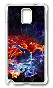 Adorable Burning Love Bodys Hard Case Protective Shell Cell Phone For Case Samsung Note 4 Cover - PC Transparent