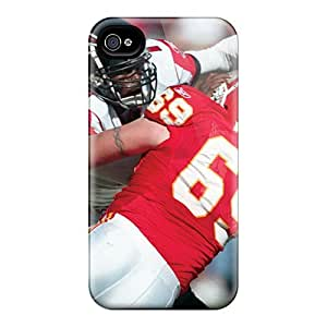 Iphone 4/4s Uwj1656DXsa Support Personal Customs High Resolution Kansas City Chiefs Pictures Scratch Protection Hard Cell-phone Cases -JohnPrimeauMaurice