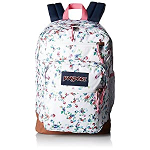 JanSport Women's Cool Student Multi White Floral Haze Backpack