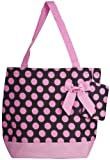 Pink Polkadot Tote with Bow, Bags Central