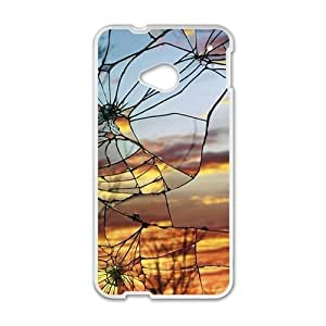 Cracked Glass With Sunset Sky Fashion Personalized Phone Case For HTC M7