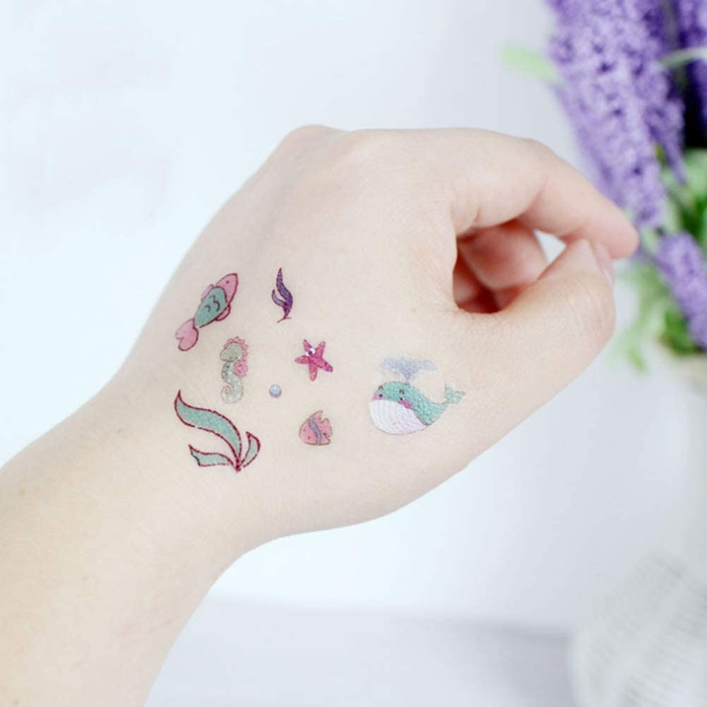 Mar mundo tatuajes para niños, sirena Penguin tatuajes temporales ...