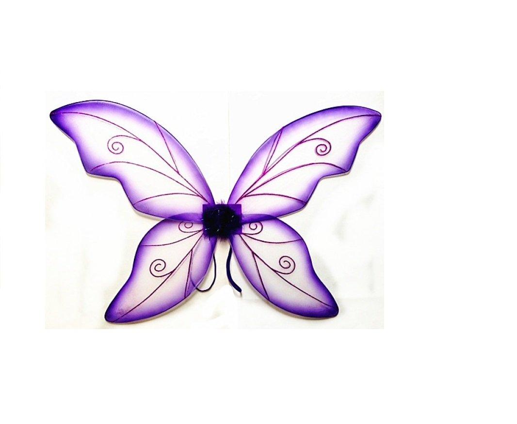 Kostüm Fee Flügel – Groß (34in) Pixie Prinzessin Kleid bis Flügel von Schönheit Collection (Erwachsene, Lila) violett