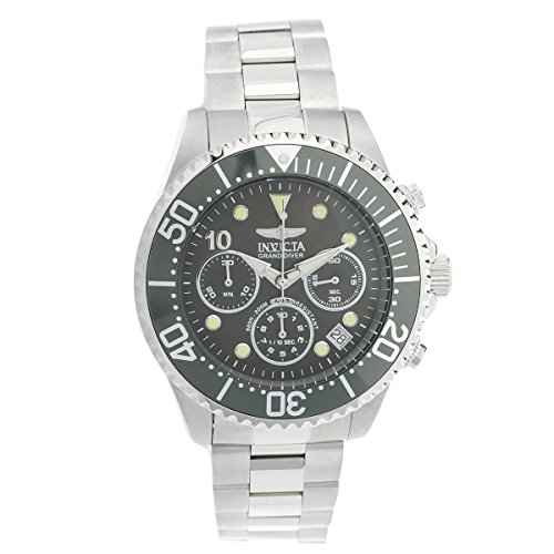 Invicta Men's 'Pro Diver' Quartz Stainless Steel Diving Watch, Color:Silver-Toned (Model: (Invicta Grand Diver Chronograph)