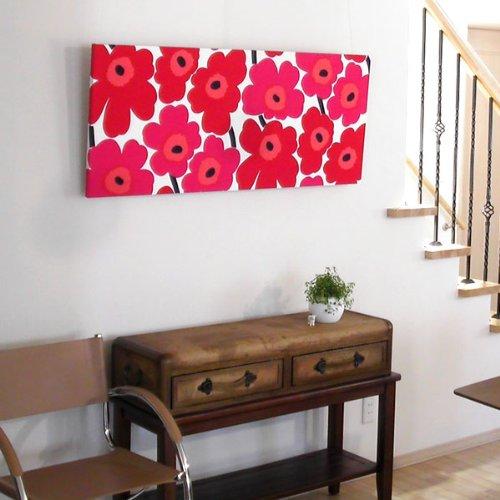 marimekko マリメッコファブリックアートパネル UNIKKO/RED 1200×500mm(類語/ファブリックボード,ファブリックパネル) B002G12A0Y