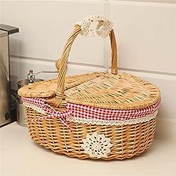 Wicker Baskets With Lids