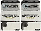 Kinesio Tex Gold FP Tape TWO Rolls 2' x 16.4' Black