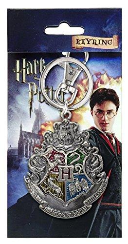 (HARRY POTTER Hogwarts School Crest Pewter Keychain)