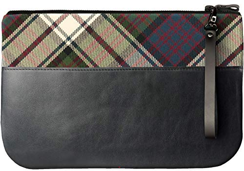With an Clutch Medium Large Tartan Bag Leather MacDonald to Fit Enough iPad vfSxqatxH