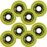 Roller Skate Quad Wheels SET OF 8 56mm x 32mm Yellow 85a