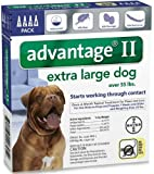 Bayer Advantage II Topical Flea Treatment for Dogs over 55 Lbs (4 Applications)