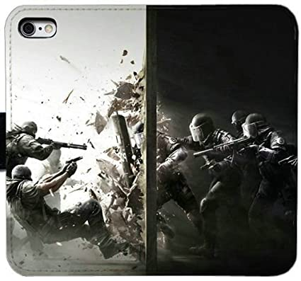Fashion Wallet Case For Iphone 6 6s 4 7 Inch Rainbow Six Siege