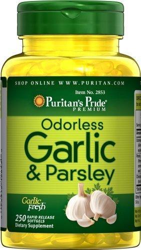 Paquet d'ail et persil Inodore 500 mg / 100 mg 250 gélules-Puritan Fierté 2