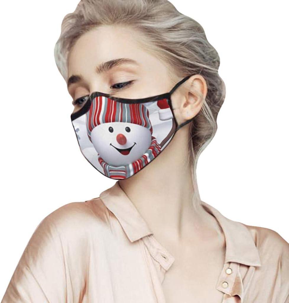 Washable Bandanas Halloween Christmas Printed Facial Deco Reusable Breathable Balaclava Lightweight Funny Scarf for Women and Men
