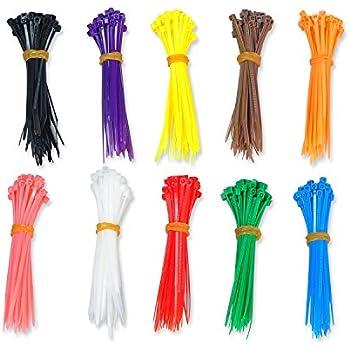 Amazon.com: 4 Inch Colored Cable Tie Kit 100 Pcs Per Color/1000 Pc ...