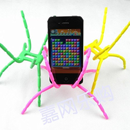 Universal Multi-function Portable Spider Flexible Grip Smart Phones GPS Car Bicycle Bike Desk Plane Cup Book Support Cell Mobile Phone Holder hanging Mount and Stand for iPod iPhone 4/4S/5/5S/6 Samsung Galaxy Andriod MP4