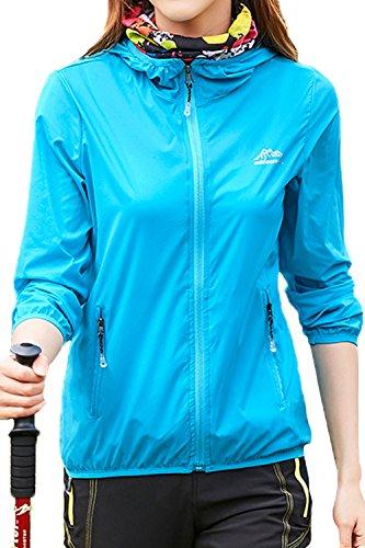Classic Hooded Coat - Mr.Stream Women's Mountain UV Protect Hiking Windbreaker Walking Lightweight Jacket Thin Outdoor Hooded Coat 3XL Blue2